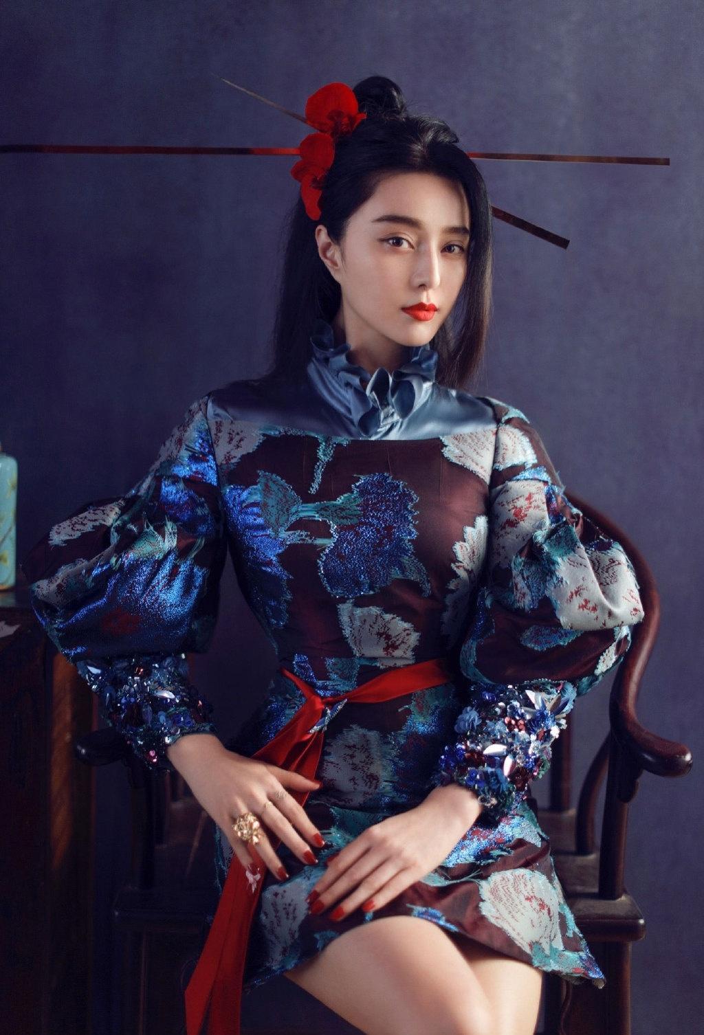时尚芭莎纪念刊范冰冰展现古典东方美写真