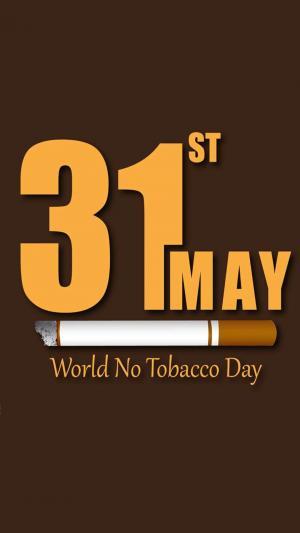 世界无烟日公益英文海报