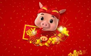 猪猪侠欢度春节图片