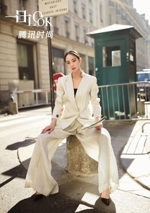 张钧甯西服套装简约帅气变身知性干练女boss街拍
