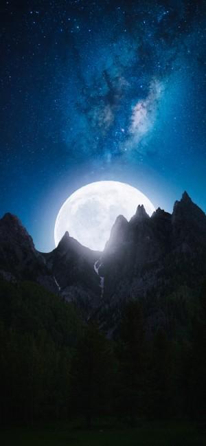 月亮夜的美