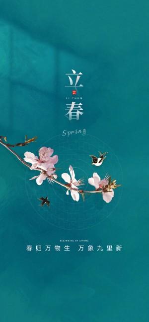 今日立春全面屏手机壁纸
