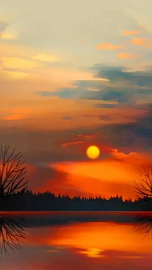 唯美日落时分手机壁纸