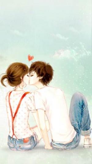 情侣亲吻唯美爱情图片