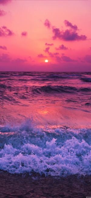 落日余晖唯美自然风景手机壁纸