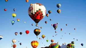 高清梦幻热气球图片