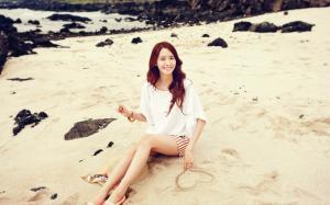 少女时代林允儿夏日唯美清纯海边写真图片