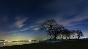 唯美的星空夜景摄影图片
