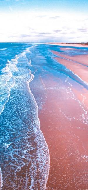 清爽夏天唯美大海蓝色风景图片