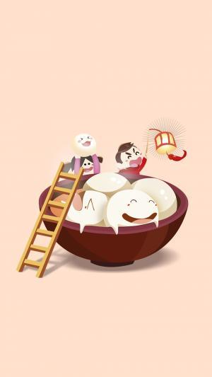 元宵节的汤圆图片