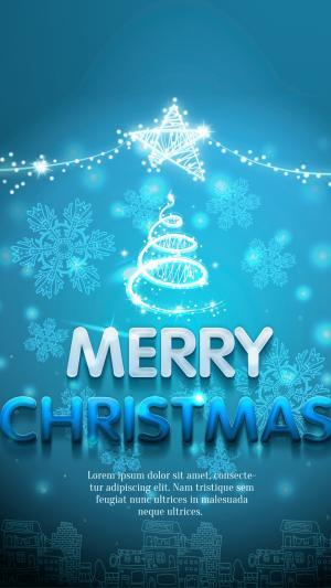 圣诞节快乐祝福插图