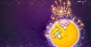 蘑菇点点mogoo情侣中秋卡通图片