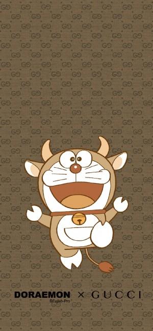 Gucci & Doraemon哆啦A梦联名壁纸