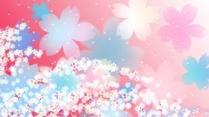 高清手绘鲜花电脑背景图片