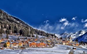 冬季唯美清新的自然雪景图片