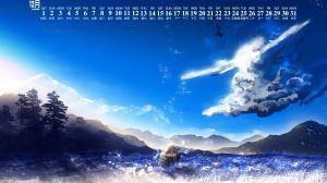 2018年12月炫目的动漫美景日历壁纸