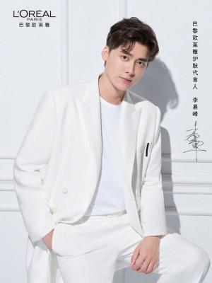 李易峰白色造型俊朗帅气广告大片