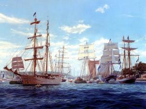 手绘帆船 第一辑