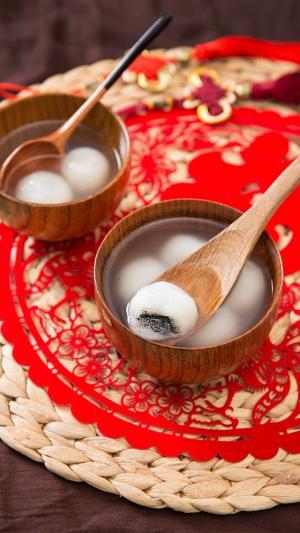 元宵节吃团圆图片