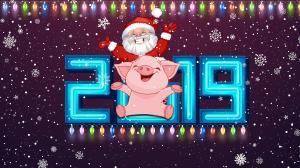 2019年猪年快乐创意壁纸图片