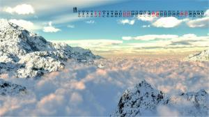2019年1月大自然唯美雪景日历壁纸
