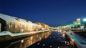 日本北海道璀璨夜景高清桌面壁纸