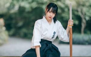 日系剑道美女飒美壁纸图片
