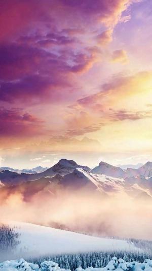 二十四节气之大雪唯美风景手机壁纸