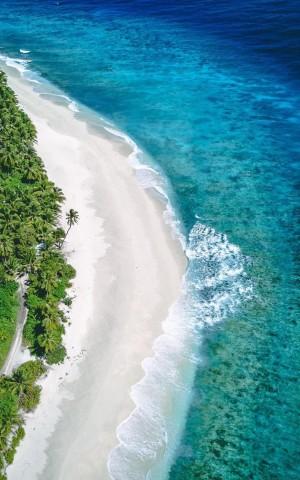 马尔代夫蓝色的海