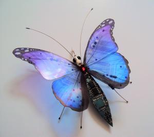 电子元器件在艺术家手中幻化为昆虫