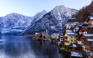 奥地利小镇优美风景图片
