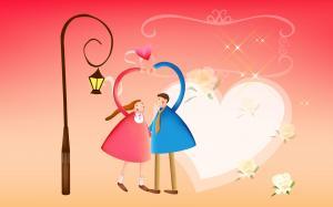 粉色浪漫情人节图片