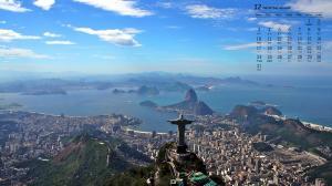 2018年12月巴西里约风景日历壁纸