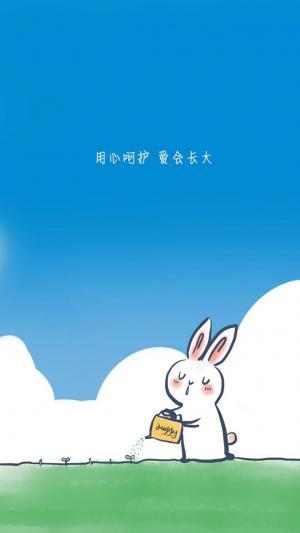 治愈系小兔子图文插画
