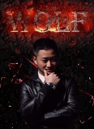 中国硬汉型男吴京黑色皮衣冷酷霸气写真