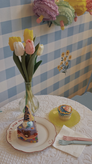 甜品店清新少女心装饰摄影