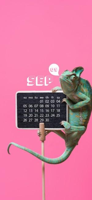 2021年9月清新可爱日历手机壁纸