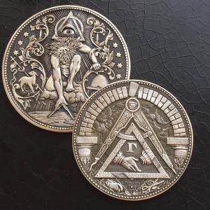 现代手工硬币雕塑