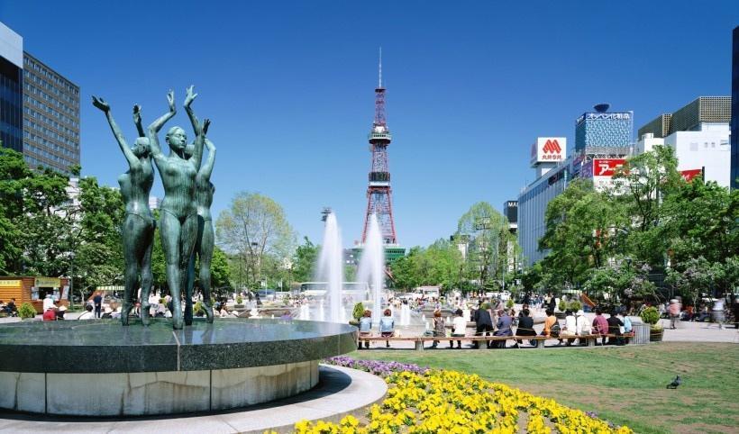 日本北海道城市风景图片