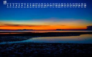 2019年2月泰国苏梅岛夜景图片日历壁纸