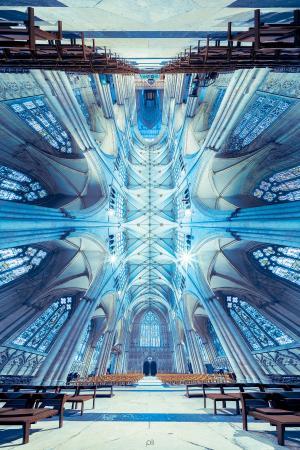 世界各地教堂的全景图片