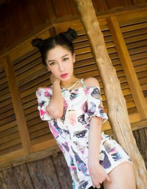 泰国人体模特张慧敏可爱吊带裙性感写真图片