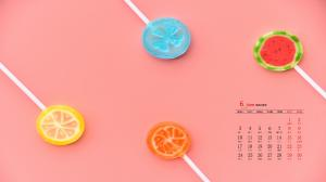 2019年6月可爱童真创意高清日历桌面壁纸