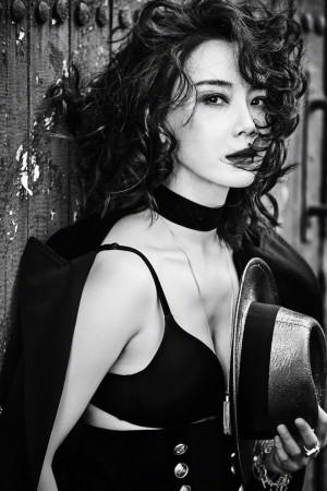 陈数时尚性感黑白写真图片