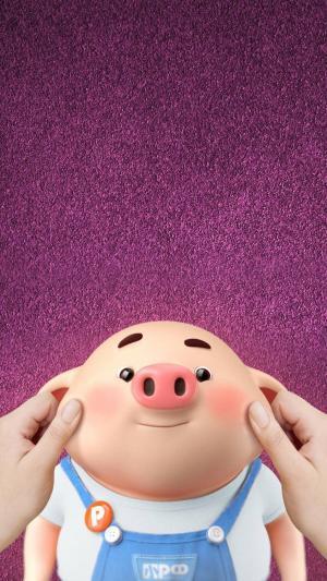 可爱的卡通小猪壁纸