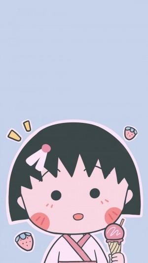樱桃小丸子萌系的表情包