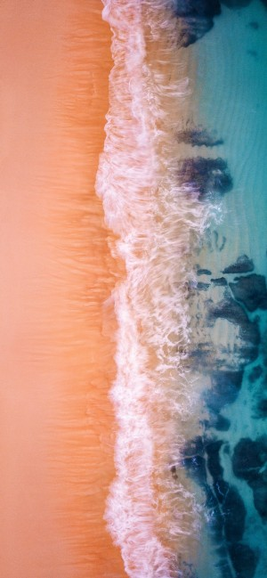 秋天的海高清手机壁纸