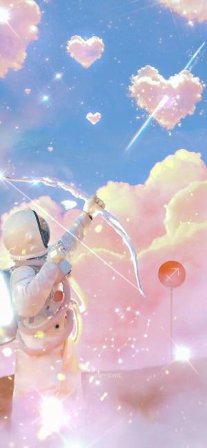 个性宇航员十二星座手机壁纸