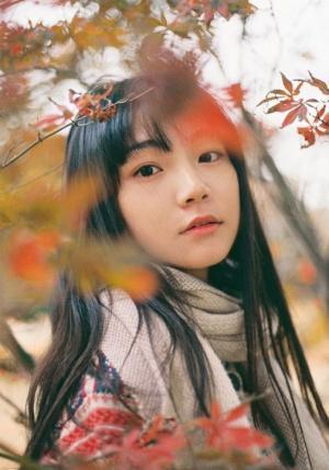 枫叶林少女唯美意境高清写真