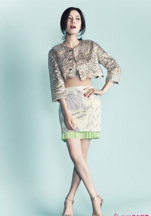 高圆圆时尚芭莎美女写真图片